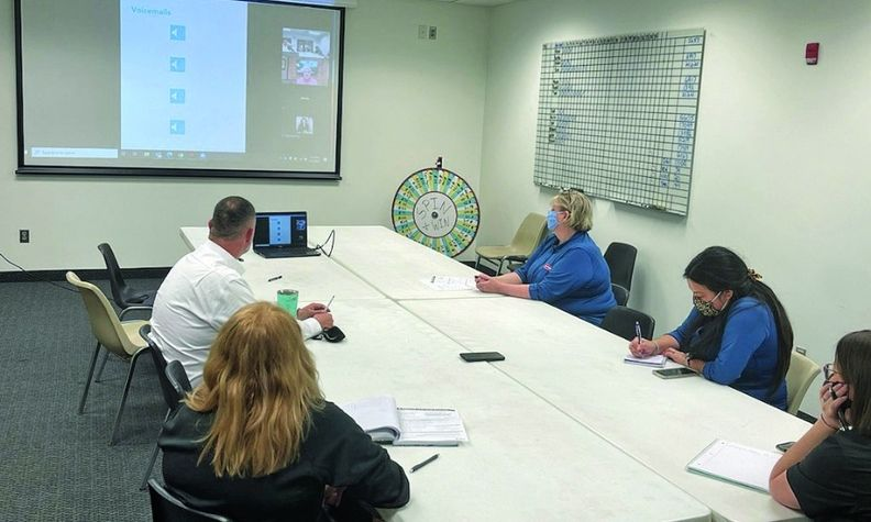 Modern Chevrolet BDC employees in Winston-Salem, N.C., participate in a training session.
