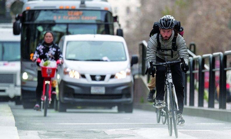 With bicycle ridership up during the pandemic, mobility companies are focusing on safety in road sharing.