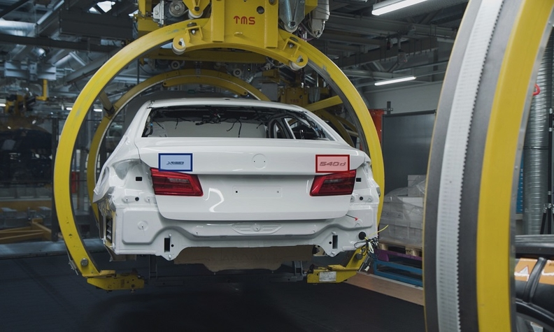 Production at BMW's plant in Dingolfing, Germany.