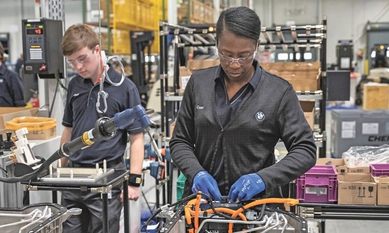 BMW is investing $10 million in its Spartanburg, S.C., plant to double its battery capacity.