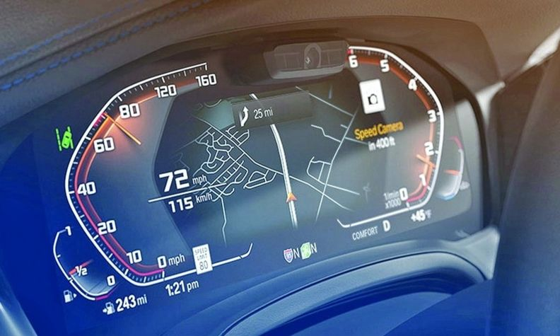 BMW's traffic camera service alerts drivers in real time through their infotainment display.