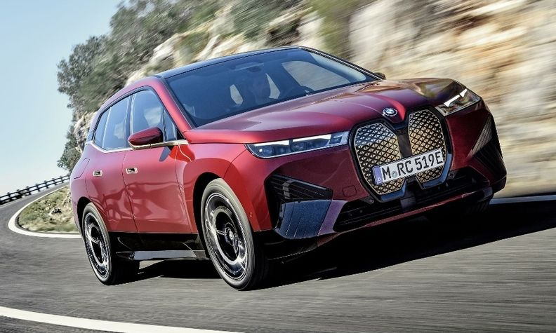BMW expects to begin U.S. sales of the iX electric crossover in the first quarter of 2022.