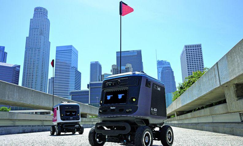 Kiwibot's zero-emission sidewalk bots use lidar and other sensors to make deliveries.