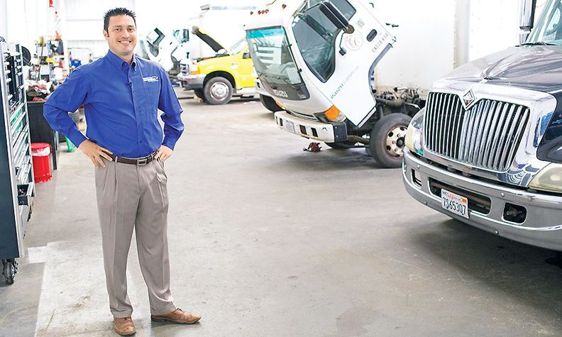 Melvin Cooper, dealer operator of Watsonville Auto Group, says the truck center services 80 trucks a month.