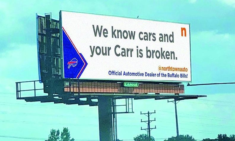 Northtown Automotive is talking a good game for the Buffalo Bills.