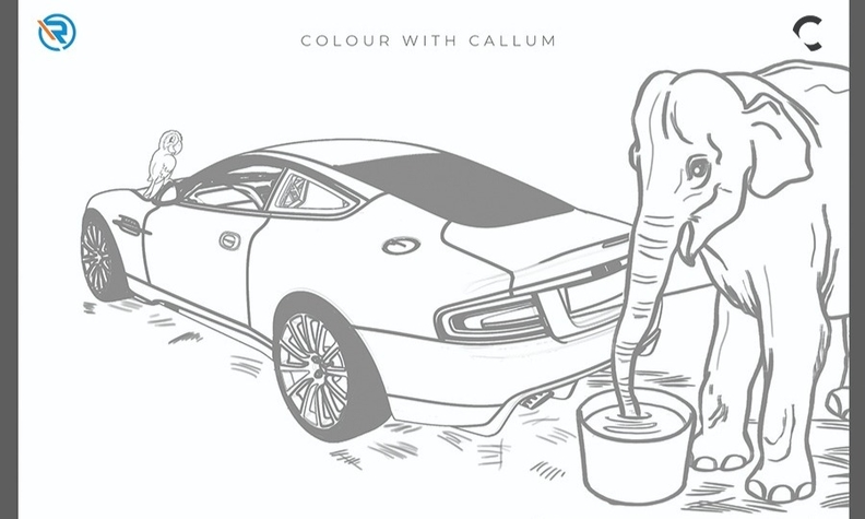 Expend some creative energy by coloring and you could possibly win a prize from Callum Design.