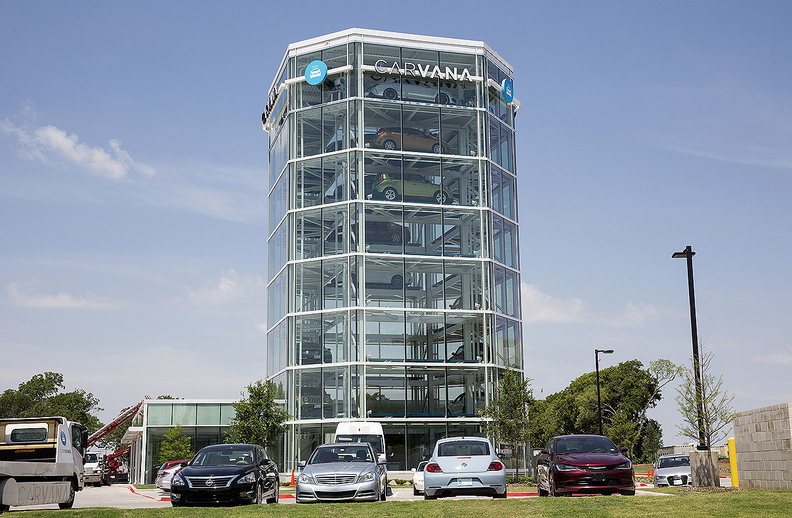 Carvana's gross profit per vehicle rose 46 percent to hit $3,175 in the second quarter, passing a goal of $3,000 set two years ago.
