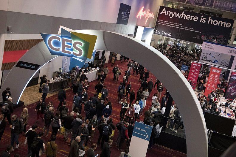 The show floor of CES in Las Vegas