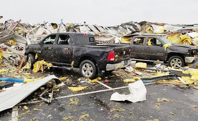 Chevy dealership in Mo  pummeled by 'direct hit' tornado