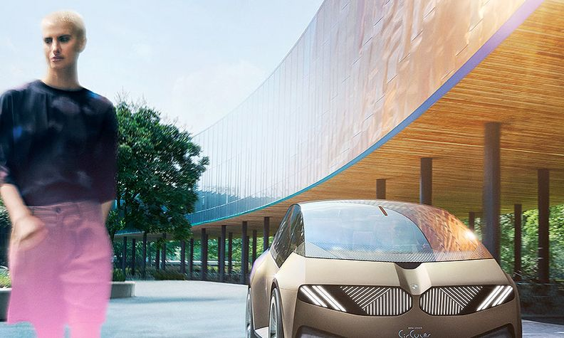The i Vision Circular concept has no kidney frame grille or exterior paintwork, BMW's design chief says.