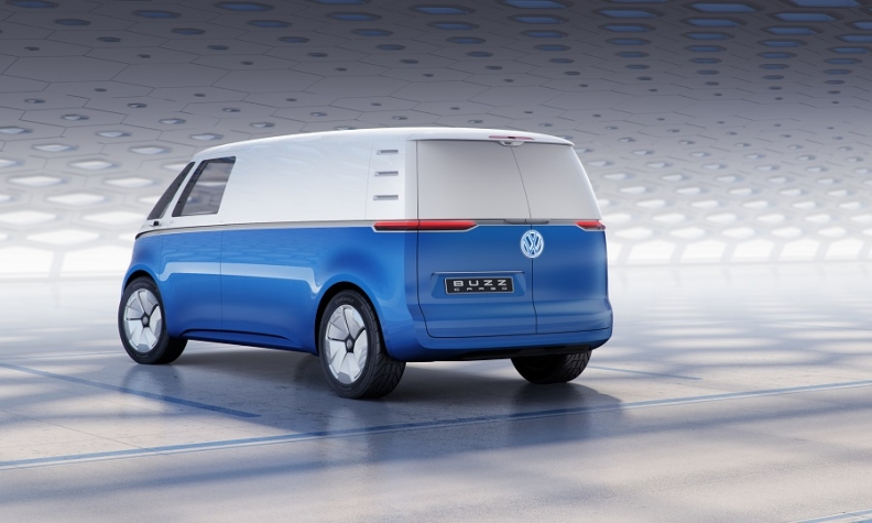 The I D Buzz Cargo Has Double Swing Out Rear Doors