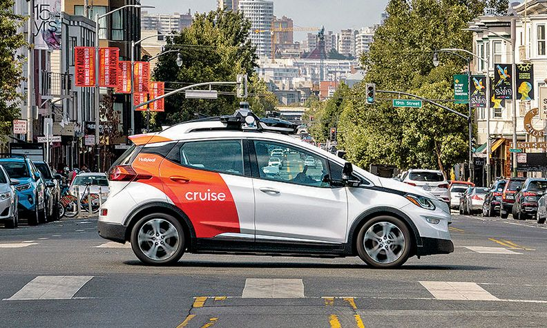 Cruise self-driving vehicle