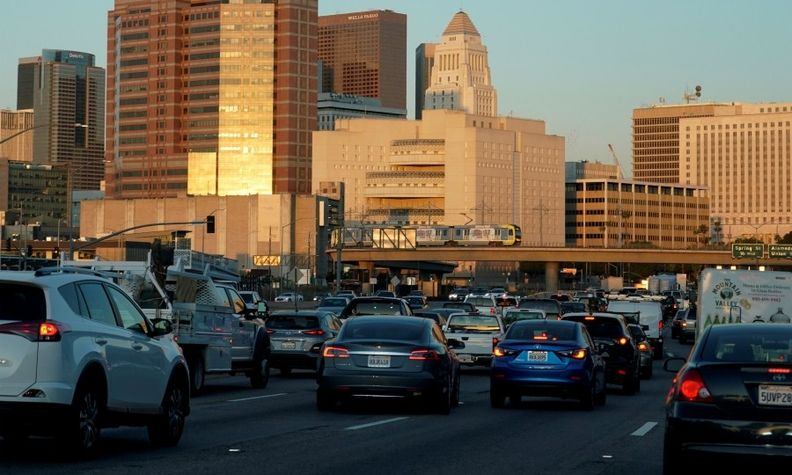 Congested traffic outside Los Angeles