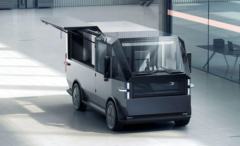 Canoo electric delivery van