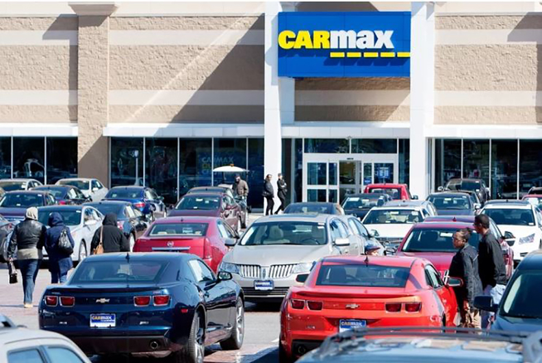 CarMax vehicle lot