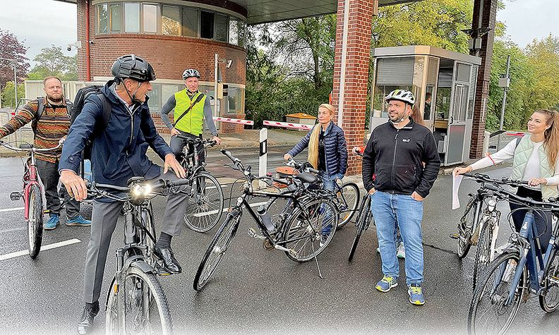 """""""Biking is fun, healthy and good for the environment,"""" CEO Herbert Diess wrote on Twitter."""