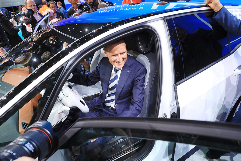 VolkswagenCEO Herbert Diessunveiled the electric ID3at the Frankfurt auto show this week.