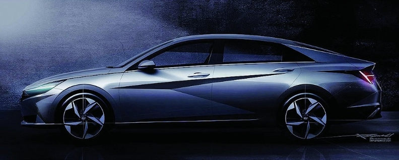 The Elantra is now longer, lower and wider.