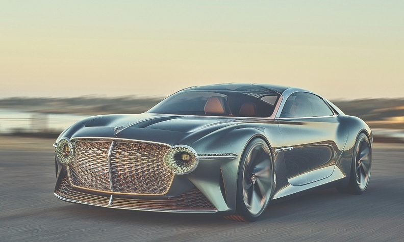 Bentley has not committed to a body style or segment for its first production EV, but it unveiled the EXP 100 GT electric concept last year.