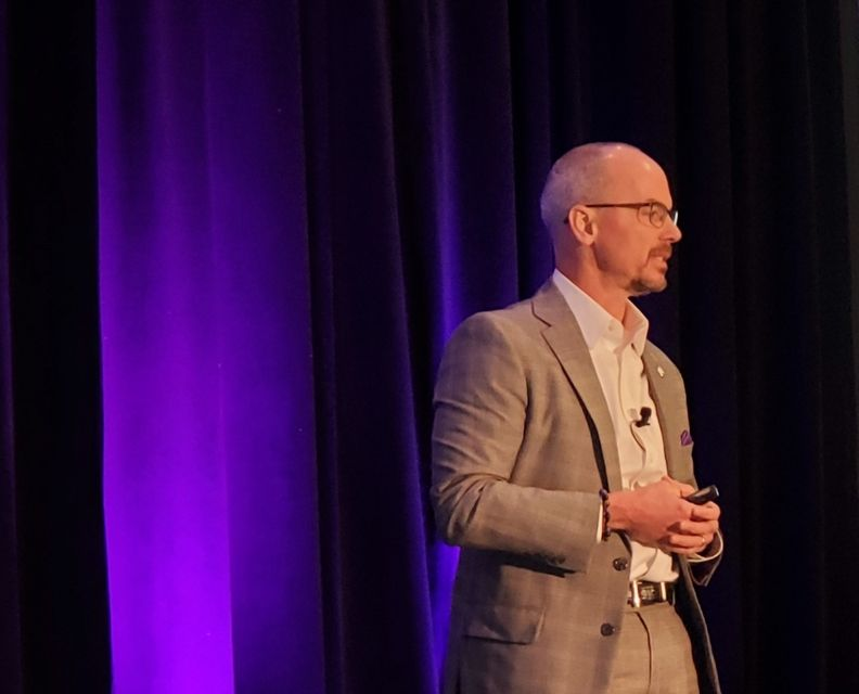 Fifth Third national sales manager Terry Gilmore told the Ethical F&I Managers Conference on Sept. 22, 2021, that his bank would effective Sept. 23 advance up to $1,200 in GAP financing instead of $995. (John Huetter/Automotive News)