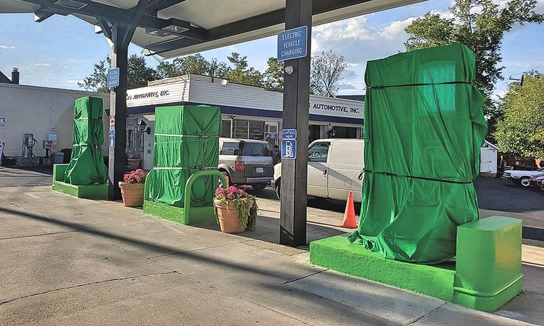 A Maryland station has gone all-electric, replacing its gas pumps with EV chargers.