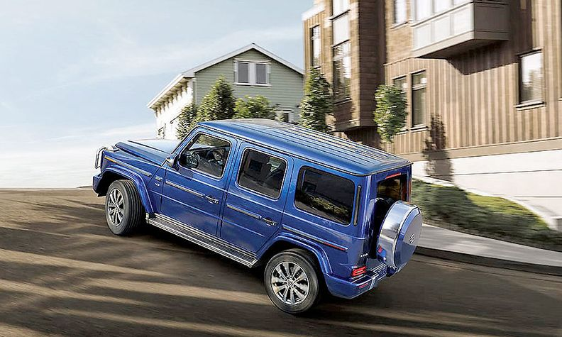 The G-Class SUV is among V-8-engine models that won't be available.