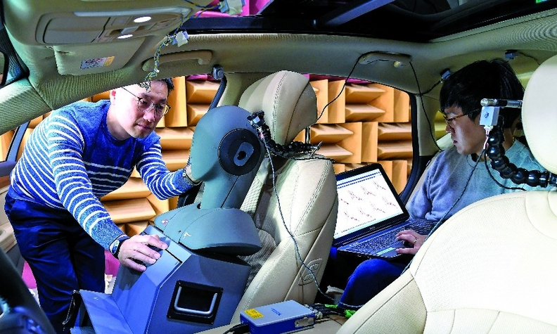 Hyundai engineered the Genesis GV80 cabin to ensure that passengers detect less noise.