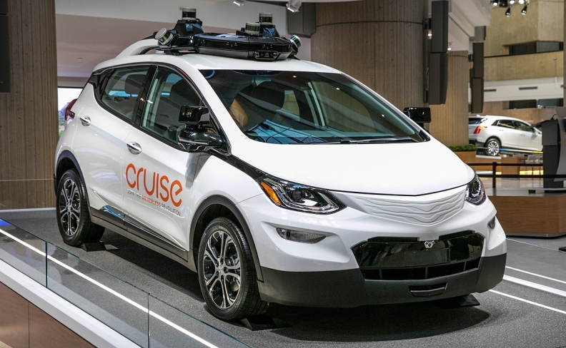 The first deployment of GM Cruise's technology will be in a car similar to the electric Chevrolet Bolt that the company has been testing.