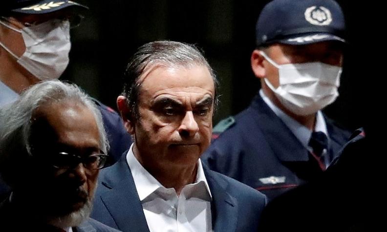 Carlos Ghosn while in custody in Japan