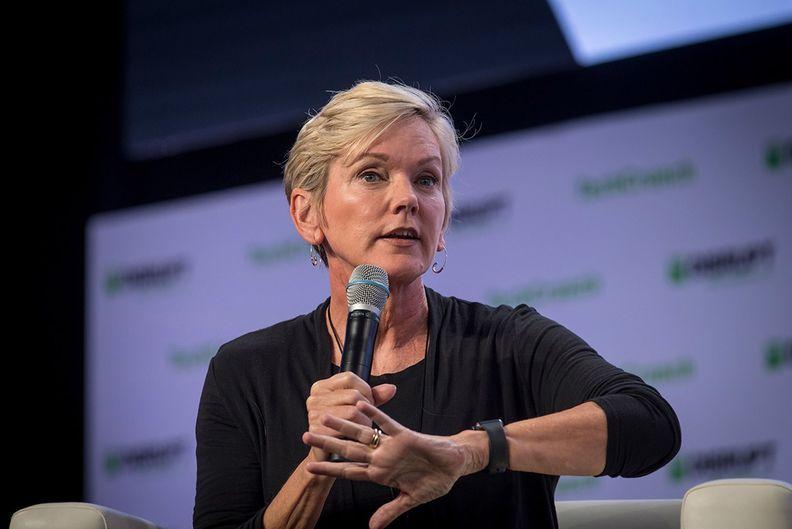 Jennifer Granholm speaking at an event