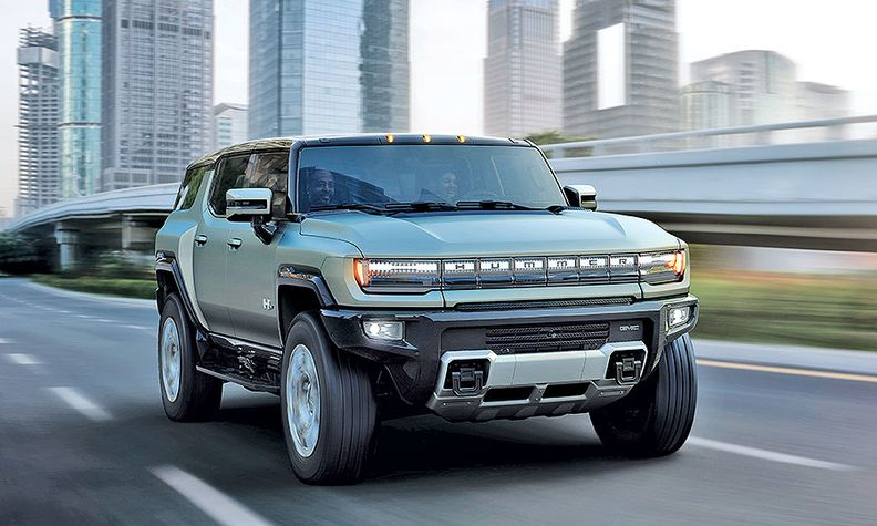 The Hummer SUV, here, and pickup will both be built at GM's Factory Zero in Detroit.