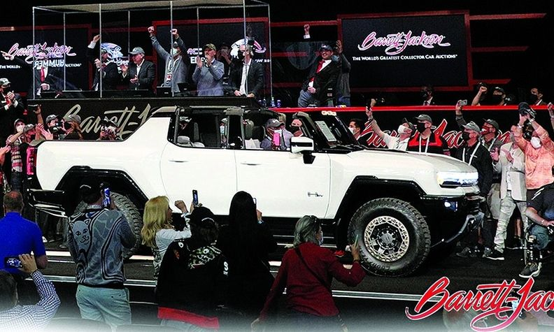 The first 2022 GMC Hummer EV Edition 1 sold for $2.5 million.