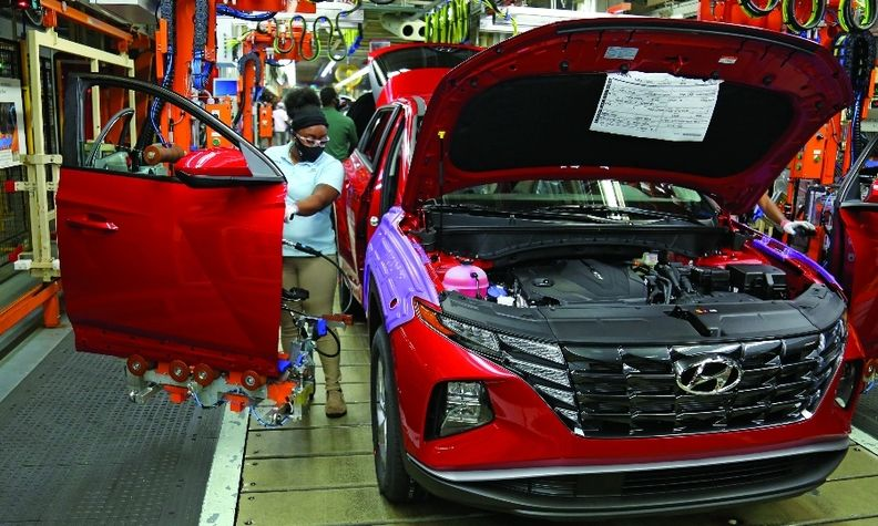 Hyundai's Alabama plant added production of the Tucson compact crossover in February. It will also produce the Santa Cruz pickup this year.