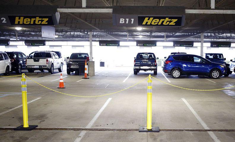 Hertz car rental lot