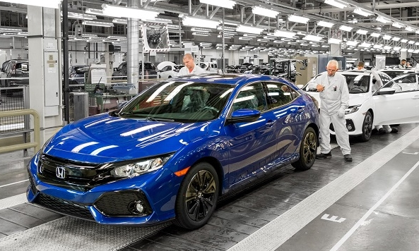 Honda Civic production line in Swindon, England