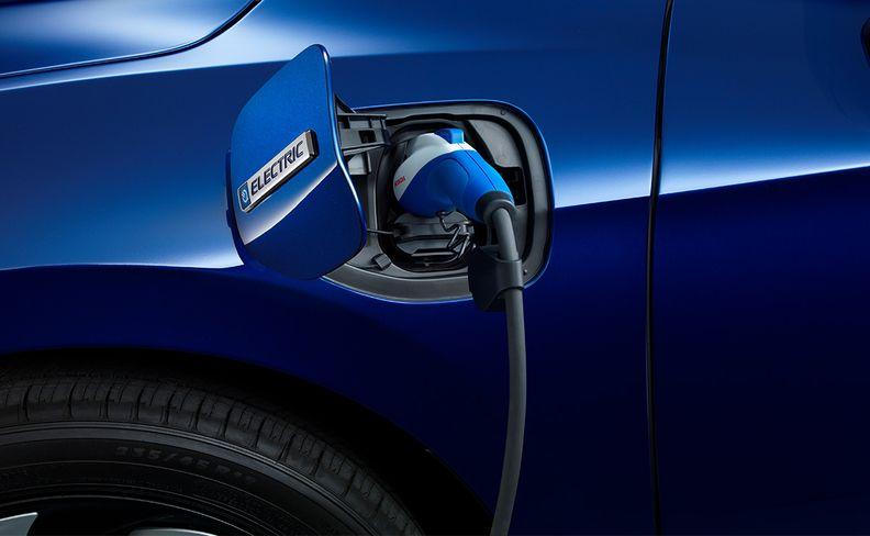 A Honda electric vehicle charging
