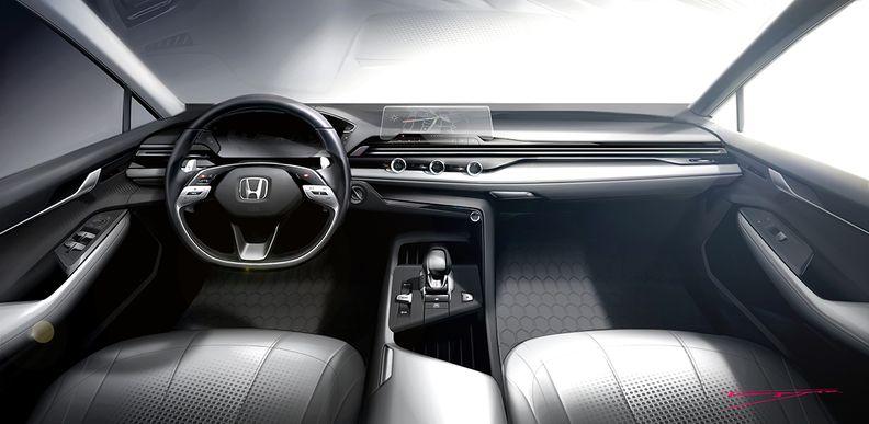 Honda interior design sketch