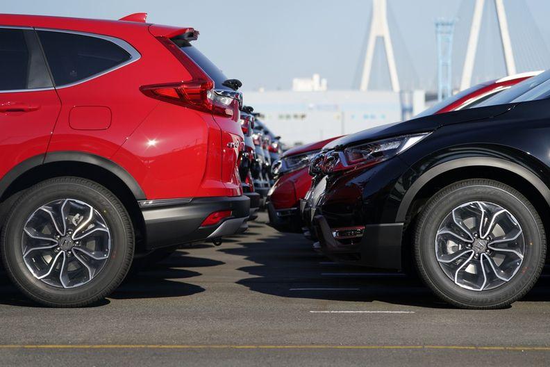 Honda vehicles parked at a shipping lot