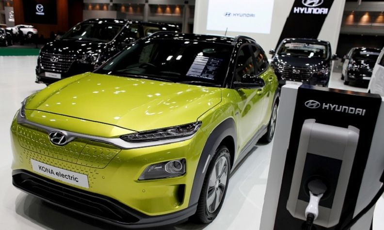 Analysts expect Hyundai boost to its EV sales despite a recall of Kona Electric, pictured, due to fires.