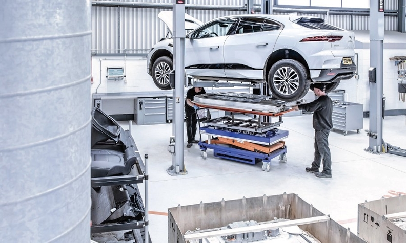 The EV-only architecture for the Jaguar I-Pace, shown, is not expected to be further developed. Below: VW Group has invested 