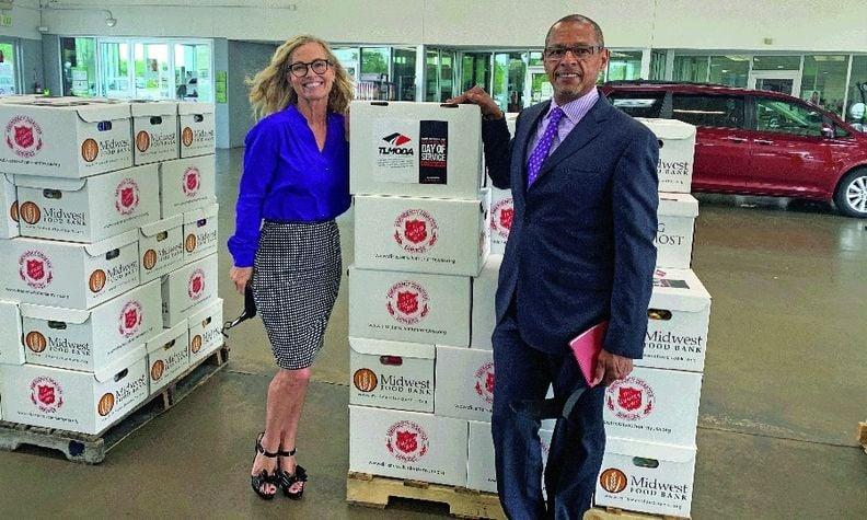 Steve Jackson, CEO of Jackson Automotive Group, and his wife, Barbara Jackson, vice president