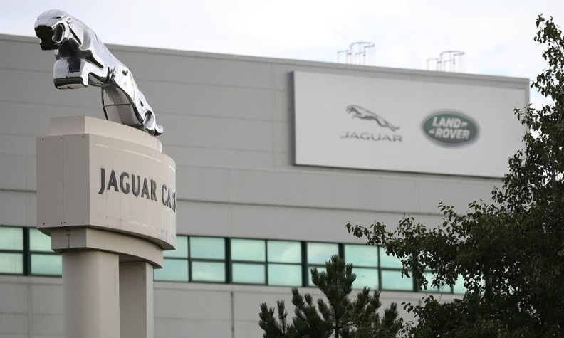 Jaguar and Land Rover signs