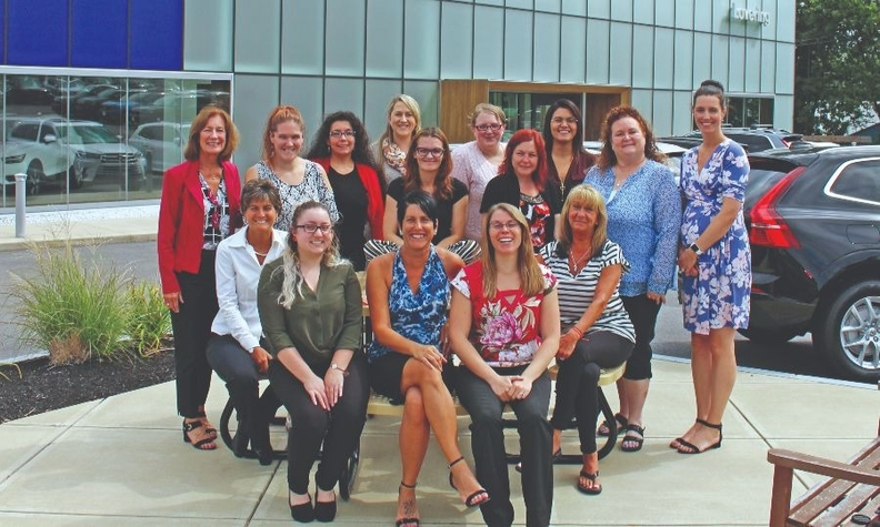 Nearly a third of the 107 employees Lat overing Auto Group are women.
