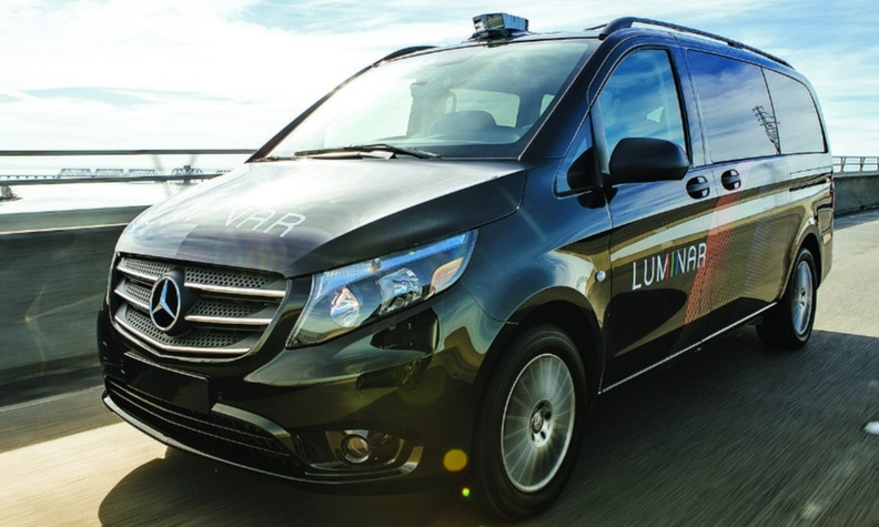 Luminar has been testing Hydra from vans such as this Mercedes-Benz Metris.