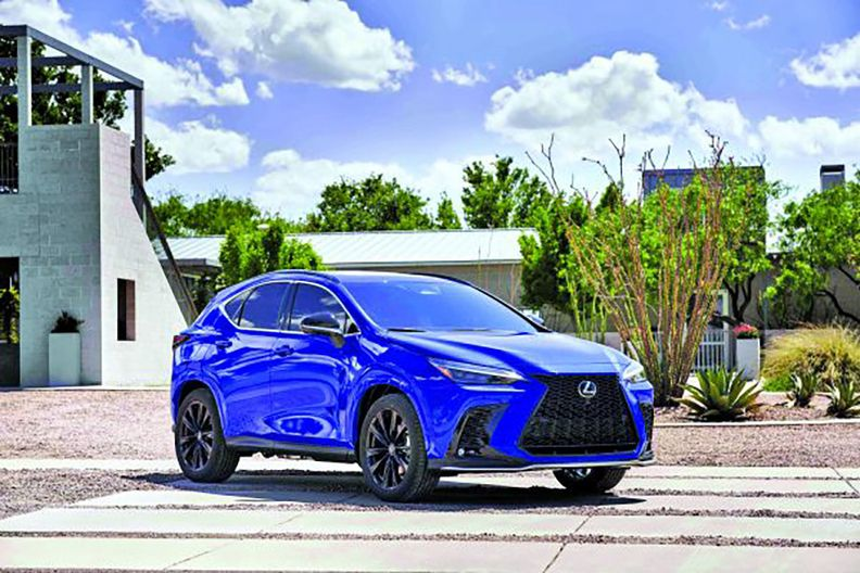 The NX, redesigned onto Lexus' global luxury platform for 2022, has subtle exterior styling updates.