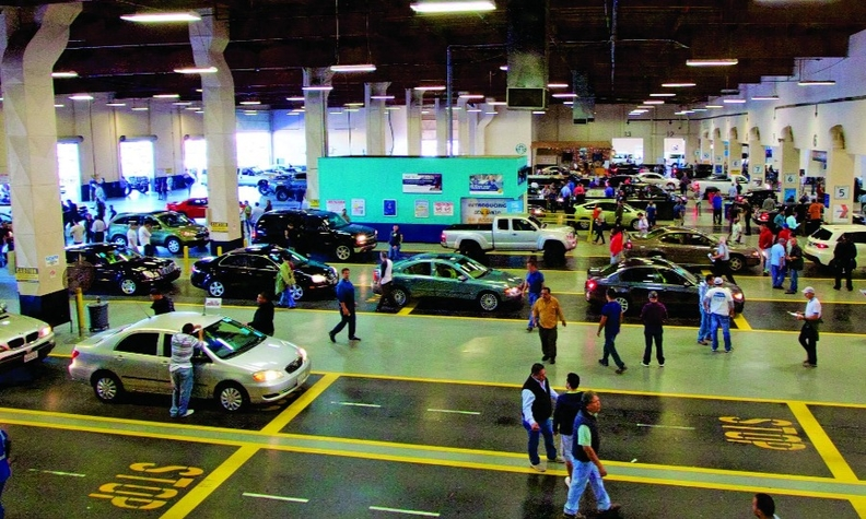 Physical sales at Manheim, and ADESA (below), locations were halted mid-March. Both companies are running all-digital auctions.