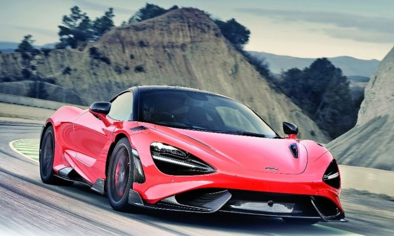 The McLaren 765LT, which debuted in March, has a twin-turbo V-8 with 755 hp.
