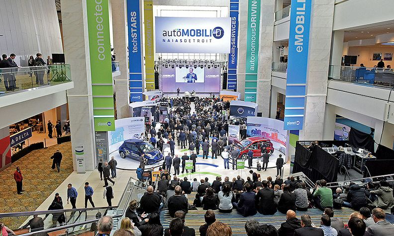 AutoMobili-D, shown in 2017, this week will feature startups and others in the connected and autonomous sectors.