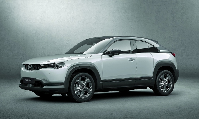 The all-electric Mazda MX-30 crossover debuted at last year's Tokyo Motor Show.