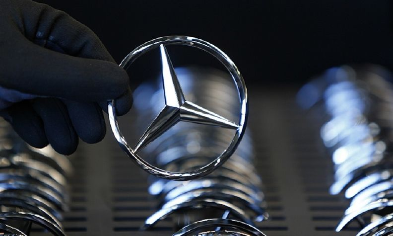 The Mercedes three star badge